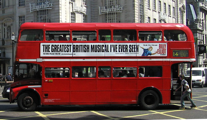 London double decker bus, by Andrew Dunn