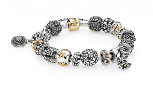 Bracelet with the new Pandora Spring/Summer 2012 charms
