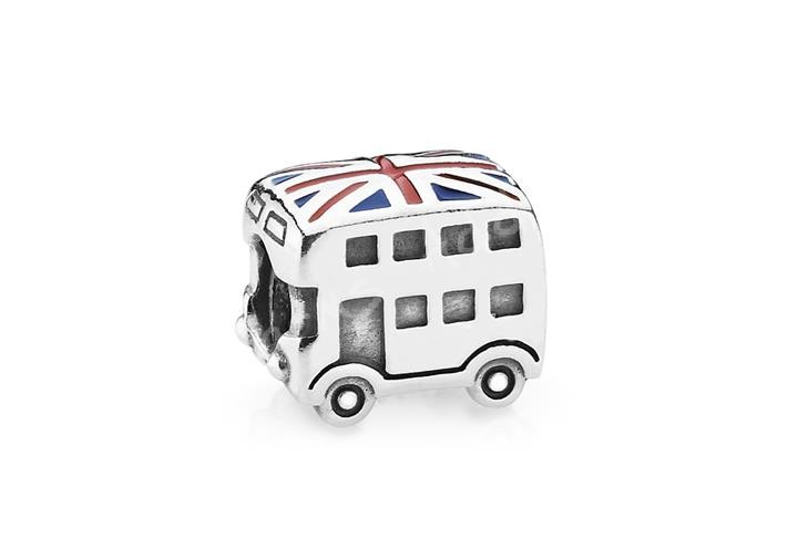 Pics of the new uk olympics charms charms addict the new silver double decker bus charm with enamel aloadofball Gallery