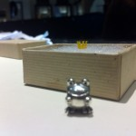 Frog Prince with wax mockup crown