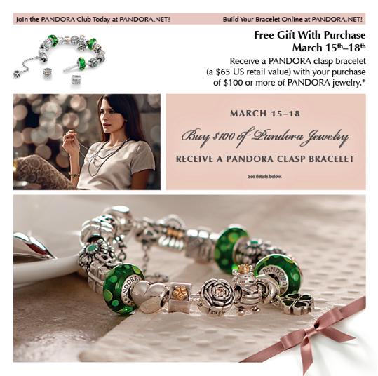 Upcoming Pandora Jewelry Promotions: March Bracelet Promo Is Here!