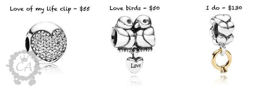 Prices for Pandora Valentine's Collection 2013