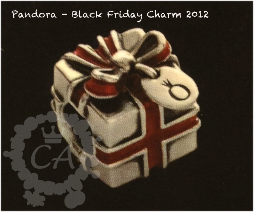 Pandora Black Friday Charm Details
