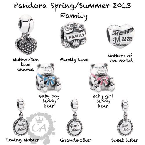 Pandora Grandmother Charms