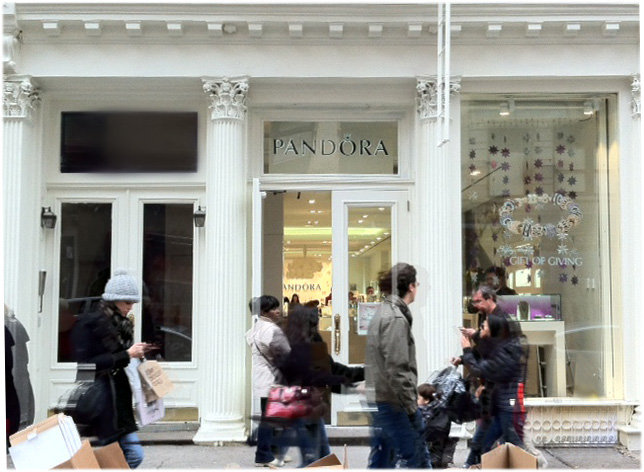 Pandora opens new Concept Store in SoHo
