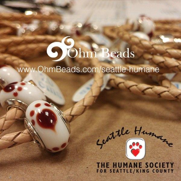 Ohm Beads Seattle Humane Society Charity Charm
