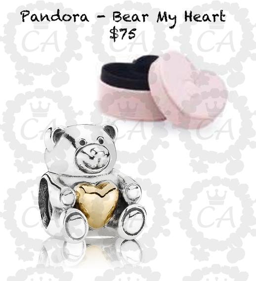 Pandora Bear Charms