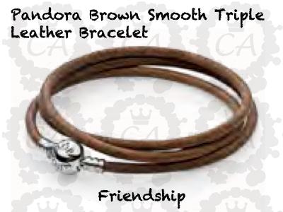 Brown Leather Pandora Bracelet