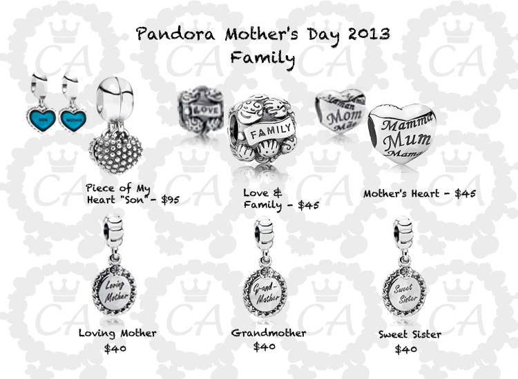 prices for pandora s day 2013 collection charms