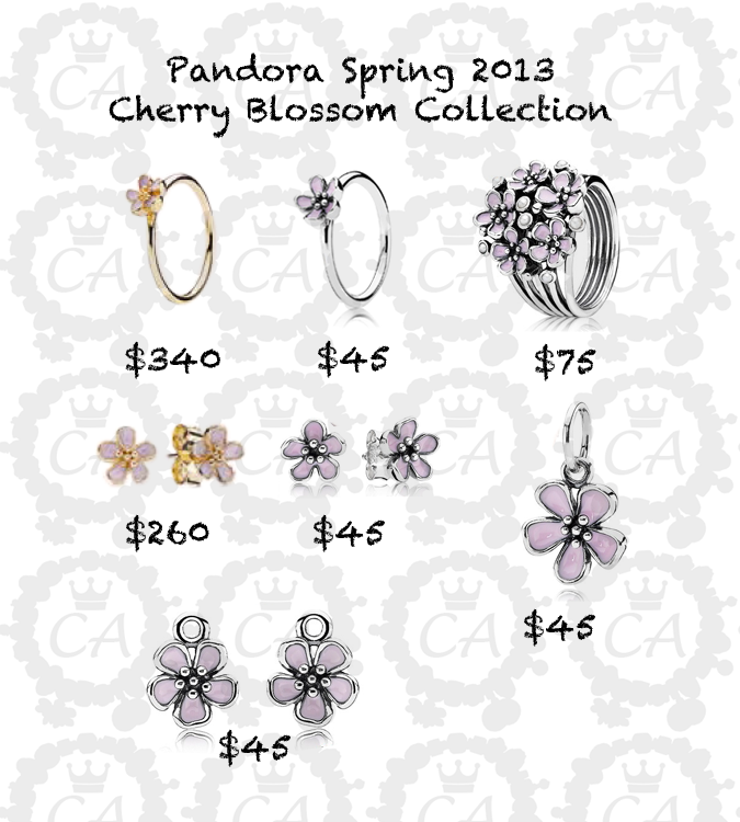 Pandora Cherry Blossom Collection Charms Addict