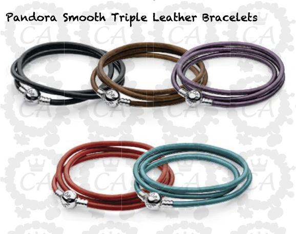Pandora Smooth Leather Bracelets