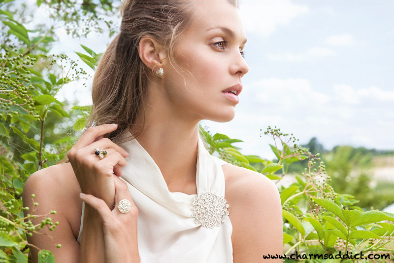 Mette Saabye for Trollbeads Elderflowers Jewelry Collection
