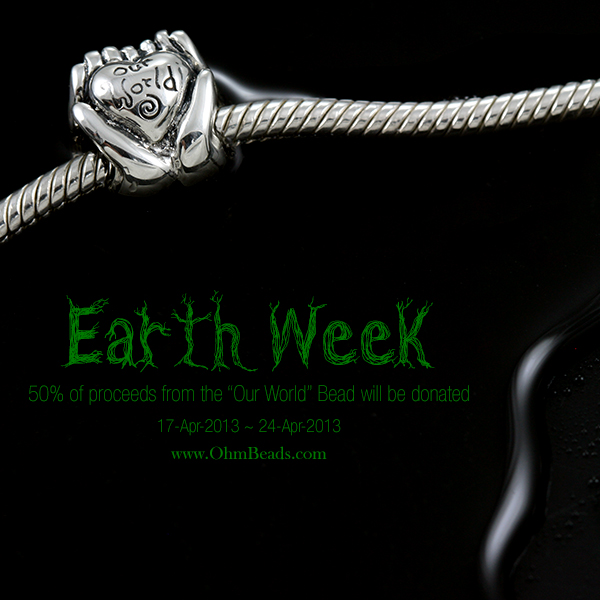 Ohm Celebrating Earth Week featuring Our World Bead (Community Design #2)