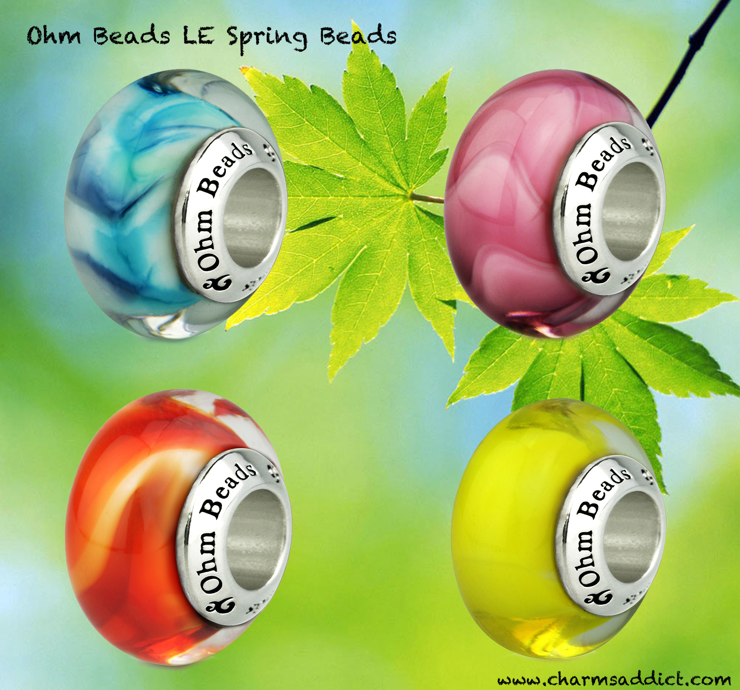 Ohm Beads LE Spring Flowers Collection