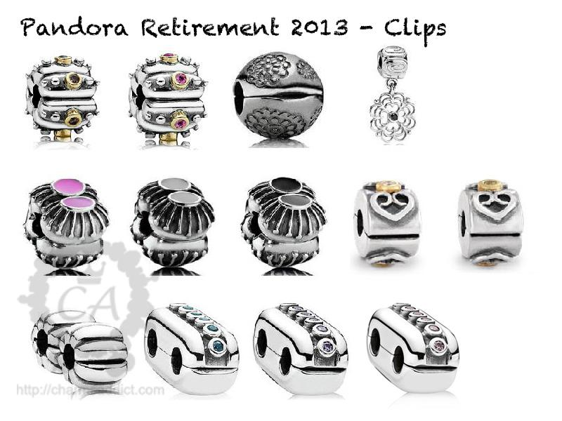 Pandora Second Round Of Retirement For 2013 Charms Addict