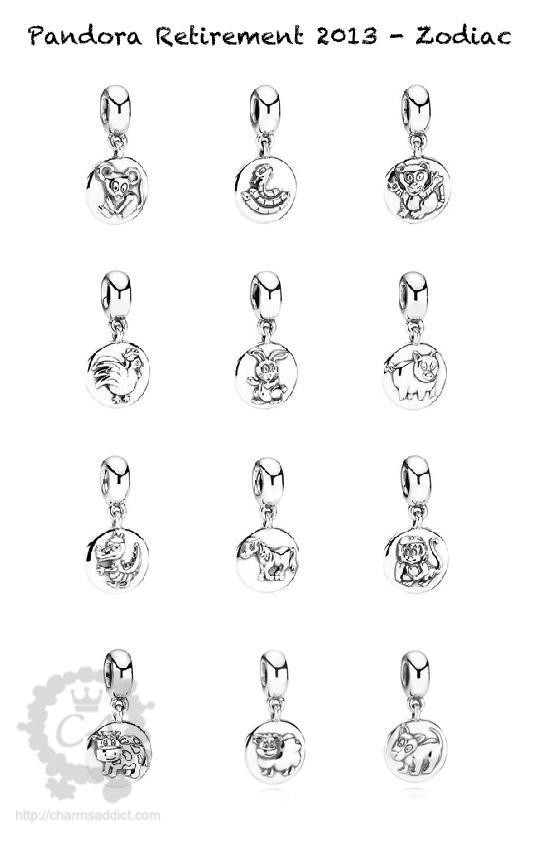 zodiac pandora charms