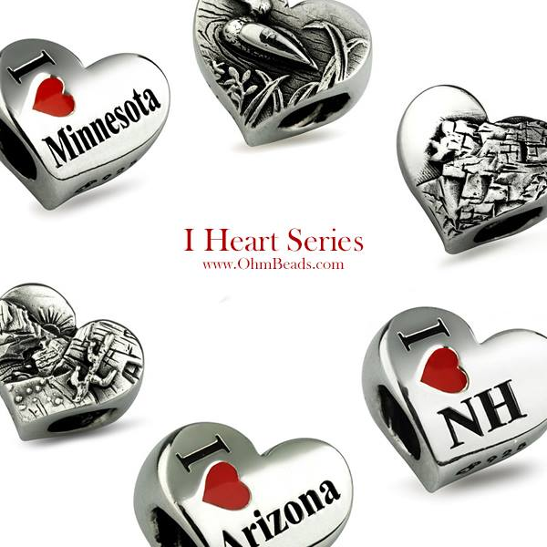 Upcoming Pandora Jewelry Promotions: Ohm Beads I ♥ State Collection