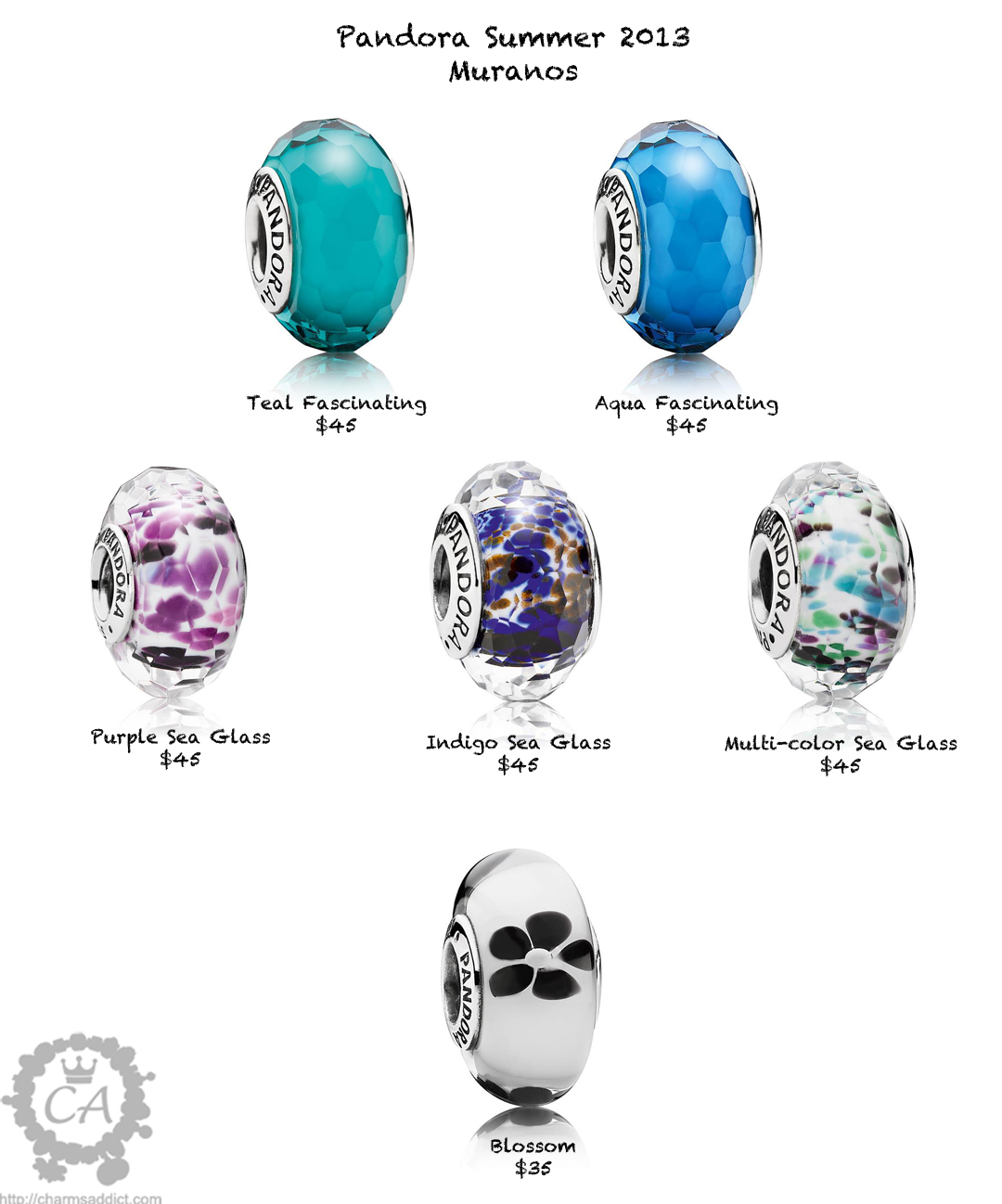 Pandora Summer 2013 released and a look to Autumn/Winter 2013