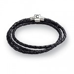 Triple Braided Leather Clasp