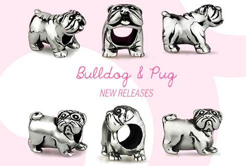 charms pandora bulldog