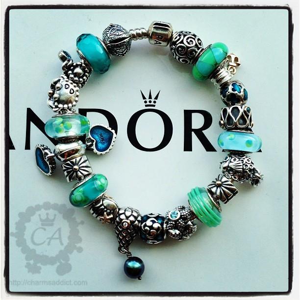 My Pandora Teal Caribbean bracelet