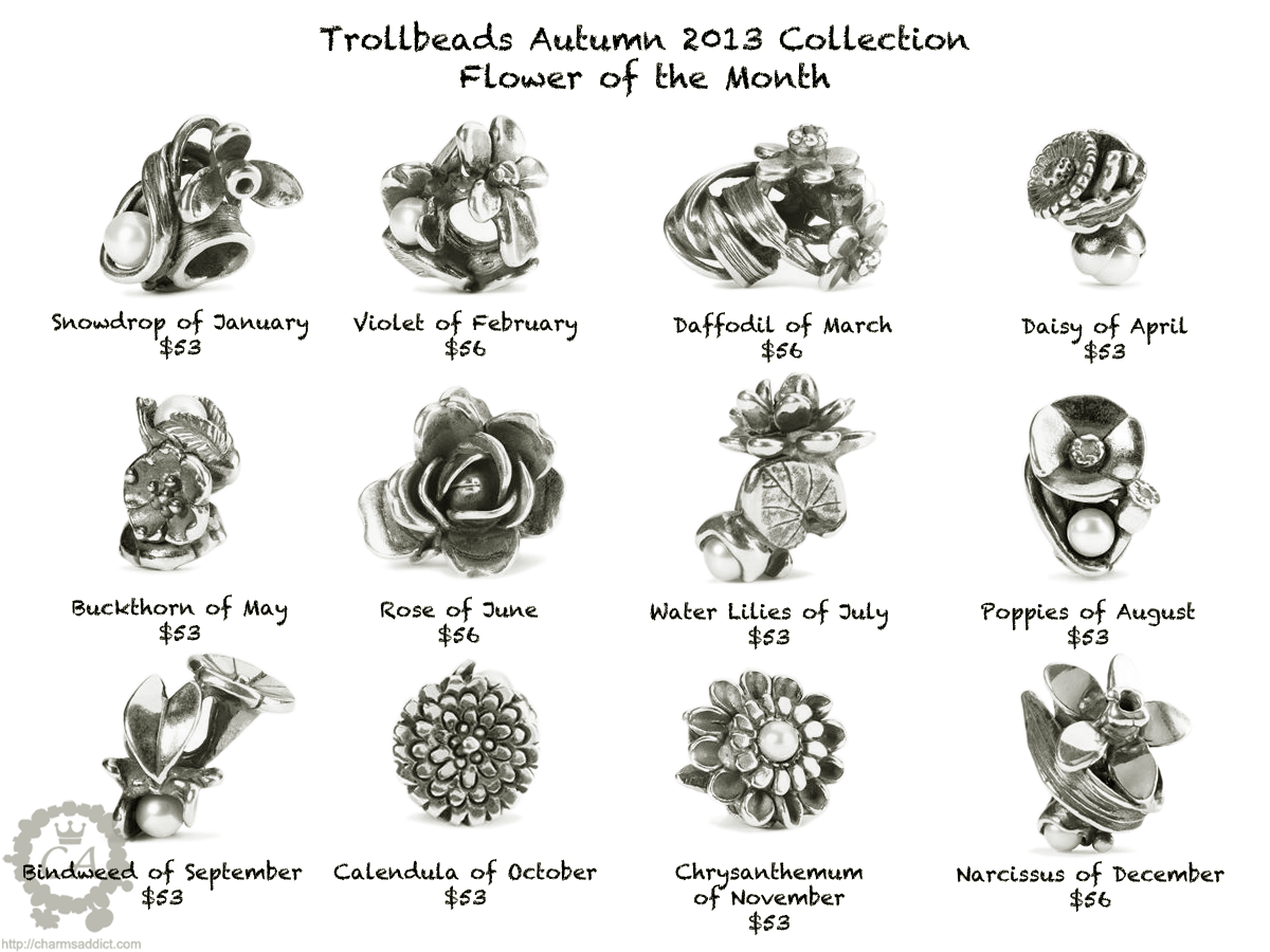 Birthday Month Flowers Trollbeads-flower-of-the-monthMonth Of May Flower Tattoos