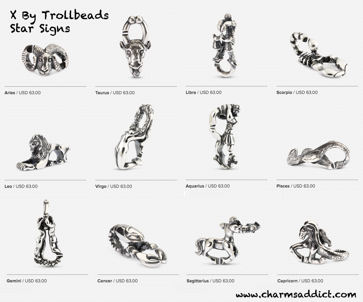 X by trollbeads debuts charms addict for What is my star sign