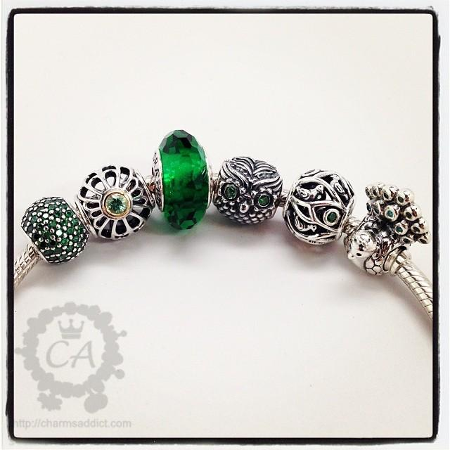 my pandora green enchanted forest bracelet charms addict