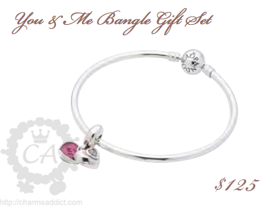 Pandora valentines day 2013 you and me giftset