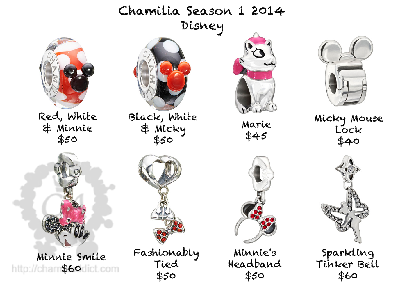 original disney pandora charms