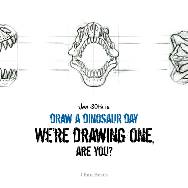 Ohm Beads Celebrates Draw a Dinosaur Day!