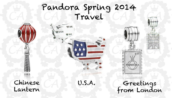pandora charm travel set