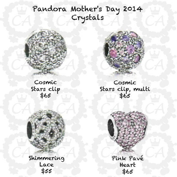 Pandora Jewelry Cost: Pandora Mother's Day 2014 Collection Prices