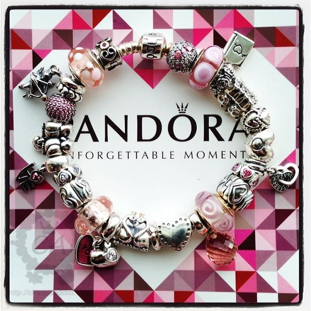 My love theme bracelet featuring the Pandora Valentine's Day 2014 Collection