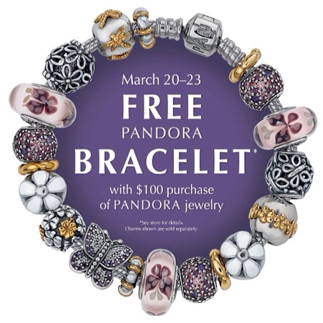 Pandora Jewelry Coupons Printable: Pandora Free Bracelet Promo And Shopping Haul Video