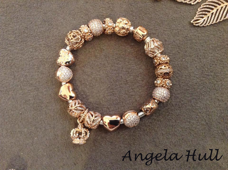 pandora rose gold charms bracelet