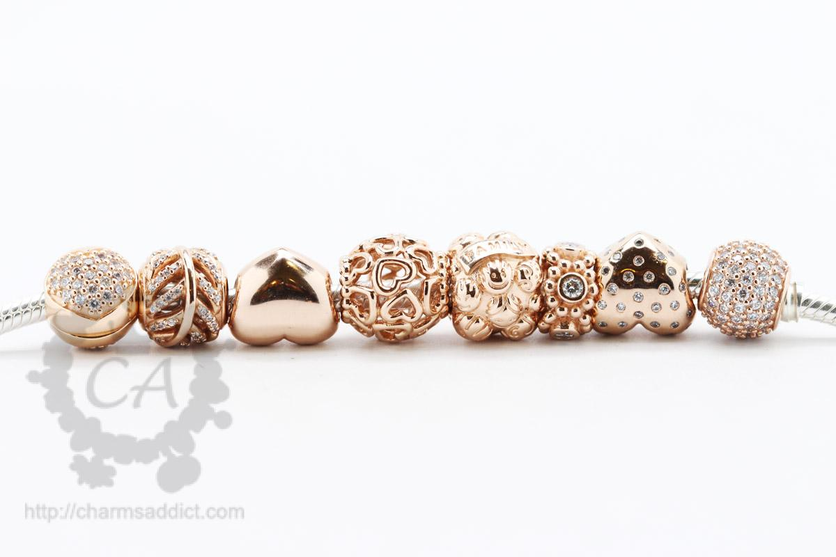 pandora charms rose gold charms