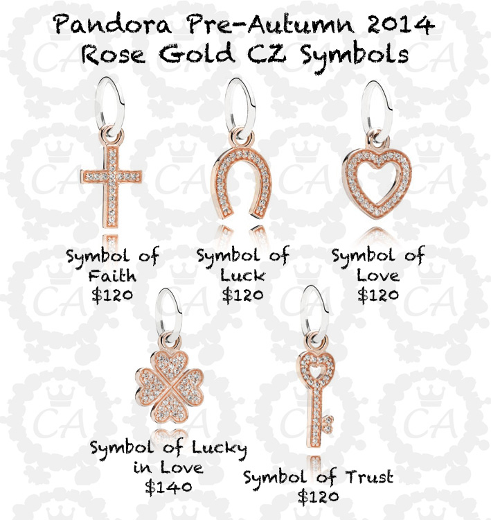 Pandora Rose Gold Dangles Recalled Charms Addict