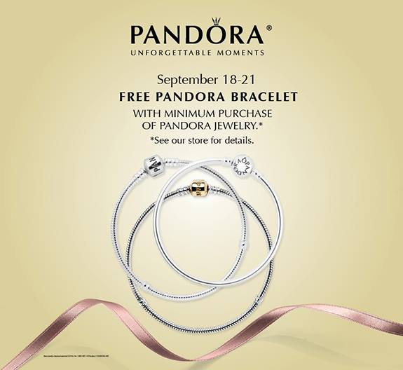 Pandora Jewelry Coupons Printable: Pandora N.A. Free Bracelet Event