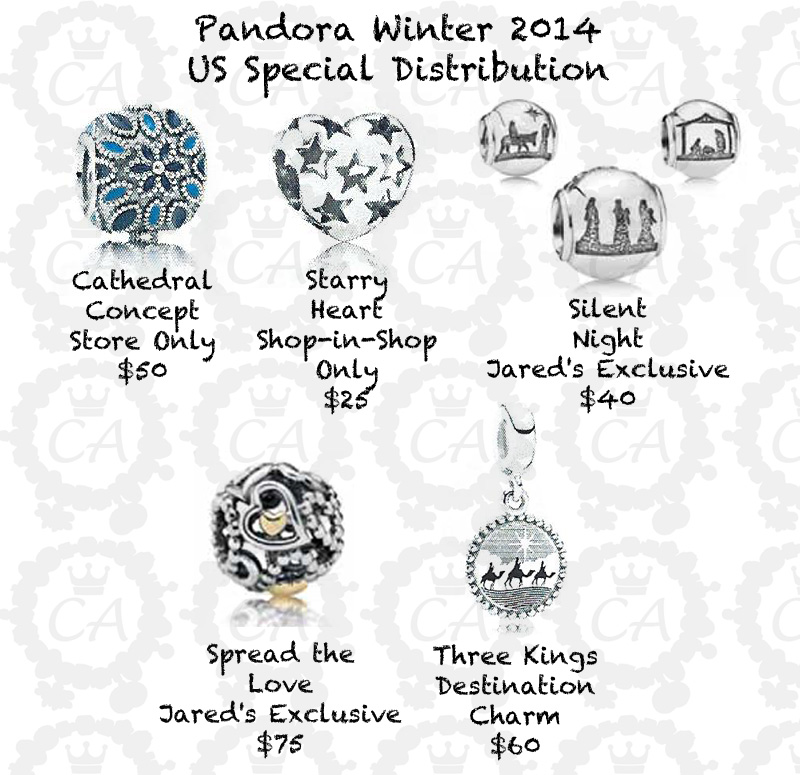 Pandora Winter 2014 Collection Prices Charms Addict