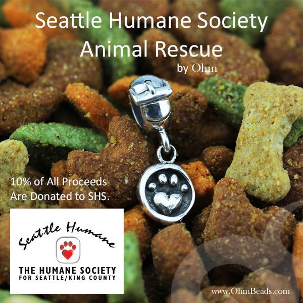 Ohm Beads Seattle Humane Society Animal Rescue Charm