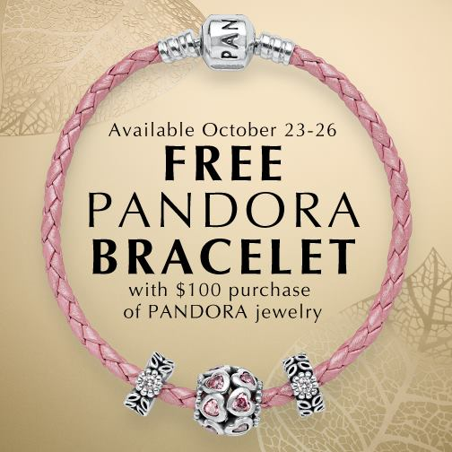 Pandora October Free Leather Bracelet Promo