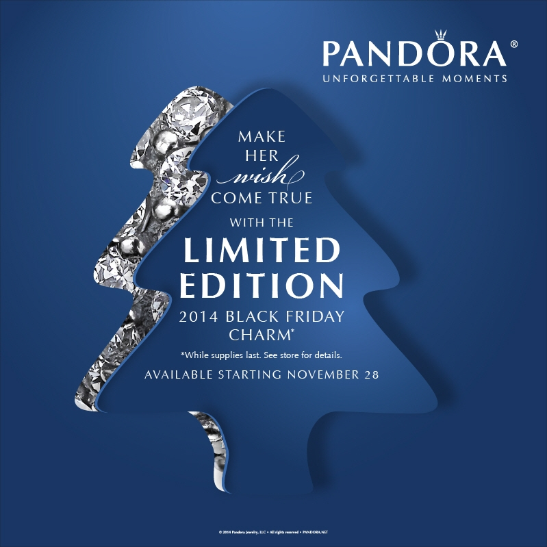 Pandora Christmas Wish (Black Friday Charm 2014) Live Shots