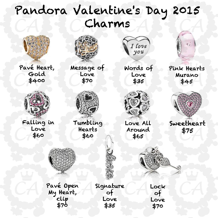 Pandora Valentine S Day 2015 Collection Prices Charms Addict