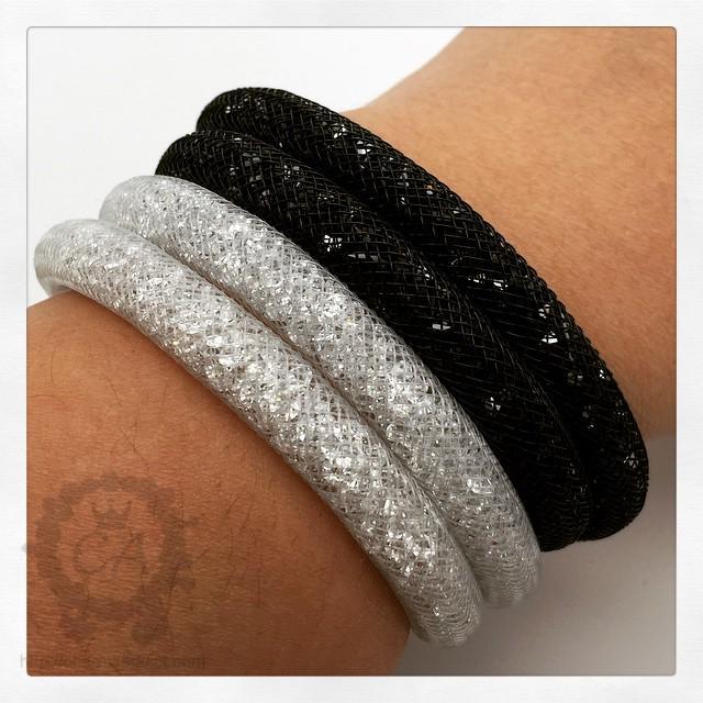 8d3580b2234bd Swarovski Stardust Black Crystal Bracelet - Bracelet Photos ...
