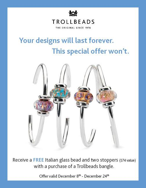 Trollbeads Holiday 2014 Bangle Promotion and GWP