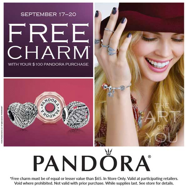 Pandora Jewelry Coupons Printable: Pandora Free Charm Offer ,new Crown Pandora Ring