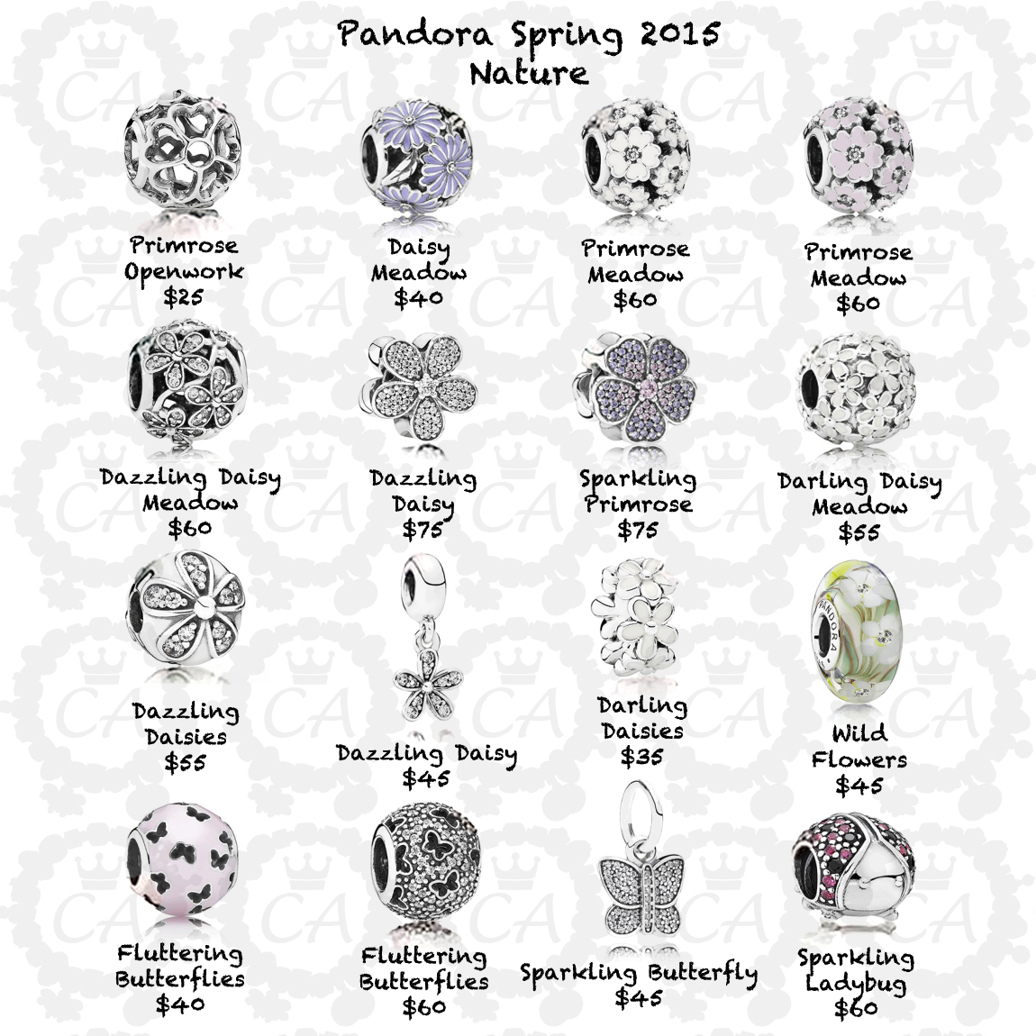 Pandora Spring 2015 Comprehensive Preview And Prices