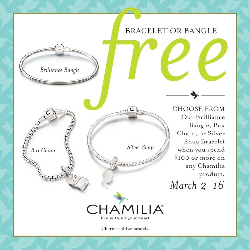 Chamilia Spring 2015 Free Bracelet Promotion
