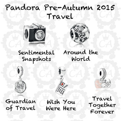 pandora charm travel theme